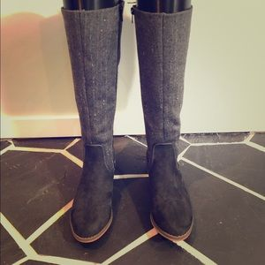 Shoes - Size 6.5 Tall Grey Boots